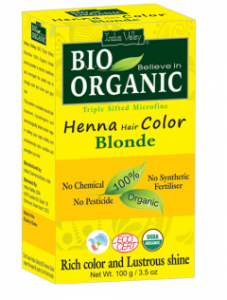 Henna do włosów EKO BLOND 100g - Indus Valley