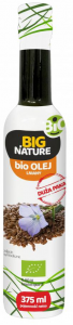 Olej lniany BIO 375ml - Big Nature