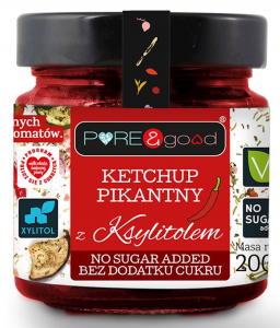 Ketchup Pikantny z Ksylitolem 200g - Pure and Good