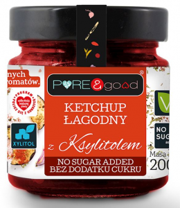 Ketchup Łagodny z Ksylitolem 200g - Pure and Good