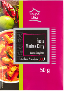 Pasta Madras Curry Średnia 50g - House of Asia