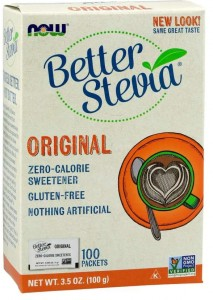 Better Stevia Packets Original Stewia w Saszetkach 100g - Now Foods