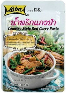 Pasta Czerwone Curry Red Curry Country Style 50g - Lobo