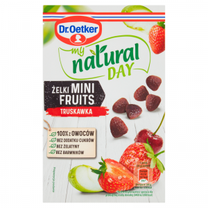 Żelki Mini Fruits Truskawka My Natural Day 30g - Dr Oetker