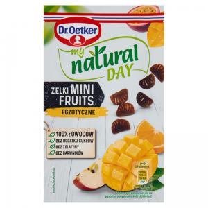 Żelki Mini Fruits Egzotyczne My Natural Day 30g - Dr Oetker