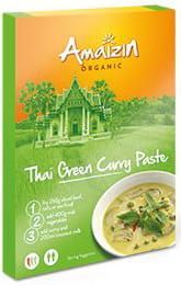 Pasta Curry Thai Green BIO 80g - Amaizin