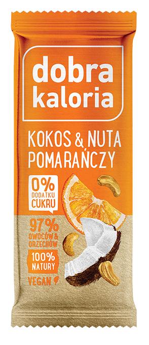 Baton Owocowy Kokos & Pomarańcza 35g - Dobra Kaloria..